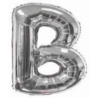112 87cm Letter B Foil Balloon Silver 1.jpg