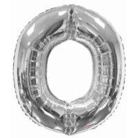 125 87cm Letter O Foil Balloon Silver 1.jpg