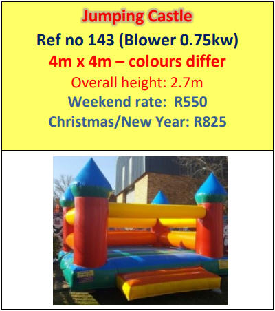 Jumping Castle #143