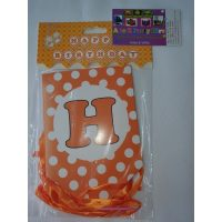3060 Happy Birthday Banner Orange Dots