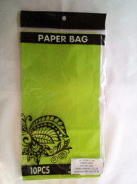 Cap 4592 Paper Bag Lime Green